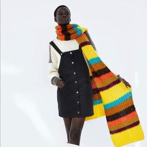 ZARA Corduroy Overall Dress
